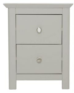 Lilith Grey Painted 2 Drawer Bedside Cabinet