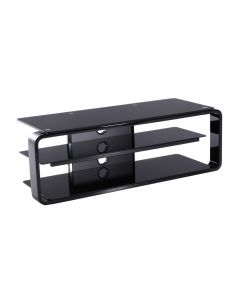 Alphason Lithium 1150 Black & Glass TV Stand