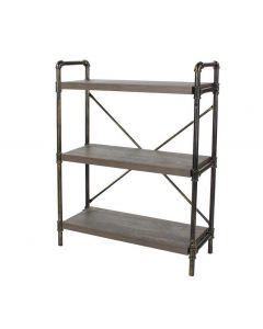 Core Products Loft 3 Tier Bookshelf With Pipe Design Uprights