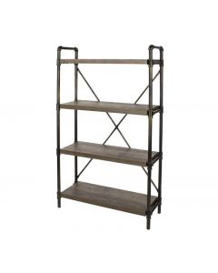 Core Products Loft 4 Tier Bookshelf With Pipe Design Uprights