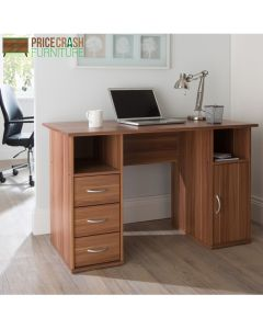 Alphason Maryland Computer Desk Workstation in Walnut at Price Crash Furniture