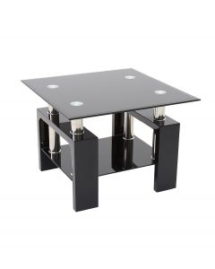 Metro Black High Gloss Side Table