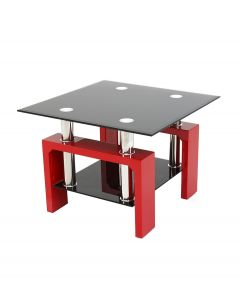 Metro Red High Gloss Side Table
