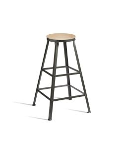 MEZZ High Stool – 12mm Natural Ply Seat/RFU – ZA.611ST