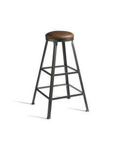 MEZZ High Stool – Upholstered In Lascari Rustic Faux Leather – ZA.612ST