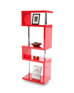 Miami Red Gloss 5 Tier Shelving Unit
