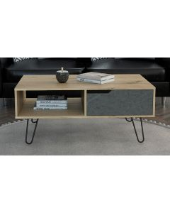 Core Products Manhattan 1 Drawer Bleached Pine Coffee Table