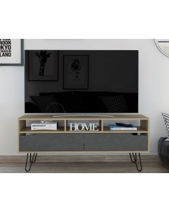 Core Products Manhattan 2 Drawer Bleached Pine TV Stand