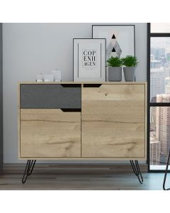 Core Products Manhattan Bleached Pine 2 Door 1 Drawer Sideboard