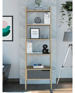Core Products Manhattan Bleached Pine Ladder Bookcase
