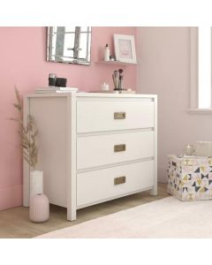 Monarch Hill Haven 3 Drawer Chest of Drawers In White by Dorel