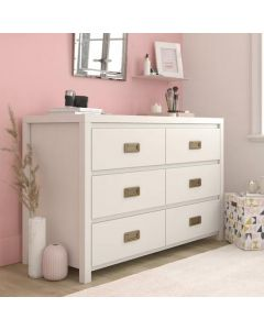 Monarch Hill Haven 6 Drawer Chest of Drawers in White by Dorel