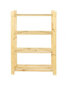 Core Products Natural Wood 300x1200mm 4 Tier Shelf Unit