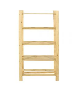 Core Products Natural Wood 300x1600mm 5 Tier Shelf Unit