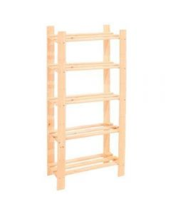 Core Products Natural Wood 600x1500mm 5 Tier Shelf Unit