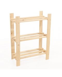 Core Products Natural Wood 600x800mm 3 Tier Shelf Unit
