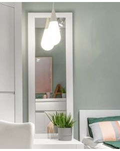 Novi Mirror In Alpine White