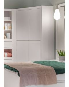Novi 2 Door Corner Wardrobe In Alpine White