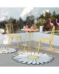 3 Piece Garden Set, Heidi Outdoor Bistro Set by Novogratz, Yellow