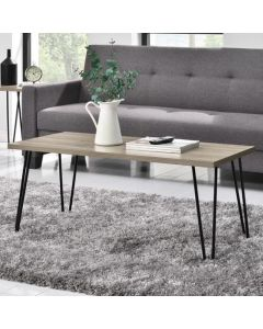 Owen Retro Coffee Table In Rustic Oak by Dorel