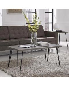Owen Retro Coffee Table in Grey Oak by Dorel