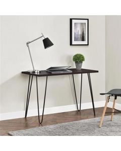 Owen Retro Laptop Desk Console Table in Espresso by Dorel