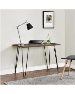 Owen Retro Laptop Desk Console Table in Walnut Finish by Dorel