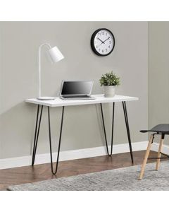Owen Retro Laptop Desk Console Table in White by Dorel