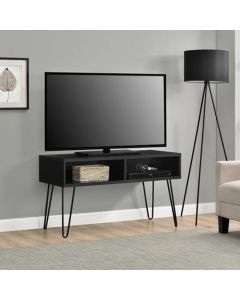 Owen Retro TV Stand In Black Oak Wood by Dorel