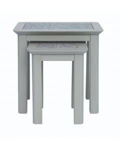 Core Products Perth Grey Handcrafted Nest Of 2 Tables