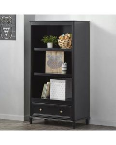 Piper Bookcase Shelf Unit in Black by Dorel at Price Crash Furniture