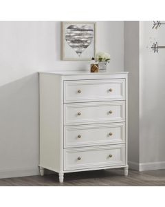 Piper 4 Drawer Chest of Drawers in Cream by Dorel