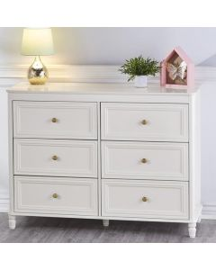 Piper 6 Drawer Chest of Drawers in Cream by Dorel