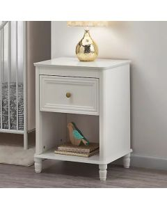 Piper 1 Drawer Bedside Table in Cream by Dorel at Price Crash Furniture