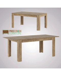 Rapallo Extending Dining Table 160-200cm in Chestnut and Matera Grey at Price Crash Furniture. Matching items available