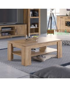 Rapallo Large coffee table in Chestnut at Price Crash Furniture. Matching items available
