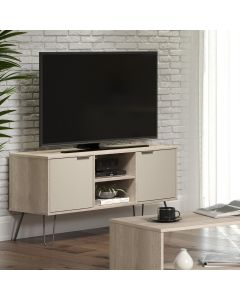 Core Products Augusta 2 Door Flat Screen TV Unit in Driftwood & Calico at Price Crash Furniture. Also in Grey, White or Pine. Matching items available