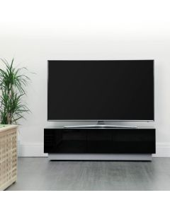 Element EMT1250 High Gloss Black TV Cabinet by Alphason at Price Crash Furniture. Also in Grey or White. Other sizes available