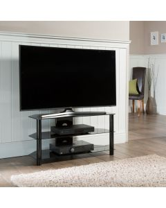 "Essentials 1000 TV Stand in Black For 45"" TVs by Alphason at Price Crash Furniture. Other sizes available"