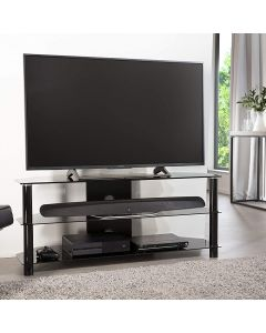 "Essentials 1200 TV Stand in Black For 55"" TVs by Alphason"