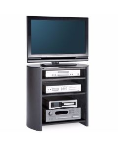 "Finewoods FW750/4 TV Stand in Black Oak for 37"" TVs by Alphason at Price Crash Furniture. Also in Light Oak or Walnut"
