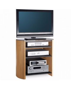 "Finewoods FW750/4 TV Stand in Light Oak for 37"" TVs by Alphason at Price Crash Furniture. Also in Black Oak or Walnut"