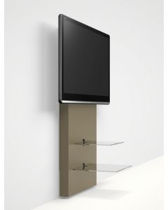 Mercury Slimline Wall-mounted TV Stand in MDF by Alphason at Price Crash Furniture. Also in Light Oak