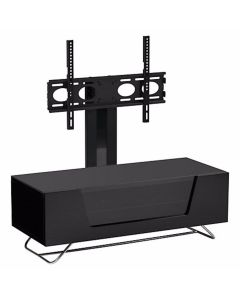"Chromium 2 100cm Cantilever TV Stand in Black for 50"" TVs by Alphason at Price Crash Furniture. Also in 120cm width. Six colours available"