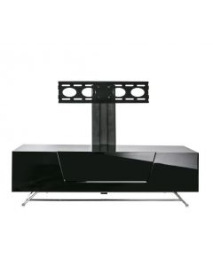 Chromium 2 120cm Cantilever TV Stand in Black by Alphason at Price Crash Furniture. Also in 100cm width. More colours available