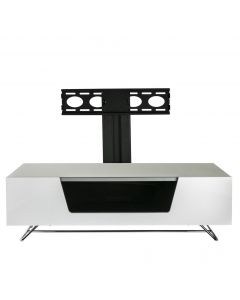 Chromium 2 120cm Cantilever TV Stand in White by Alphason at Price Crash Furniture. Also in 100cm width. More colours available