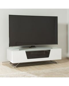 Chromium 2 120cm TV Stand in White by Alphason at Price Crash Furniture. Also in 100 and 160cm wide. Other colours available