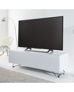 Chromium Concept 120cm TV Stand in White by Alphason at Price Crash Furniture. Also in Black or White