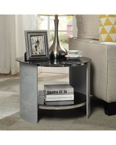 JF303 San Marino Lamp Side Table in Grey by Jual at Price Crash Furniture. Matching items available. Also in oak or walnut.