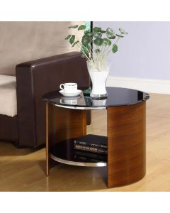 JF303 San Marino Lamp Side Table in Walnut by Jual at Price Crash Furniture. Matching items available. Also in grey or oak.